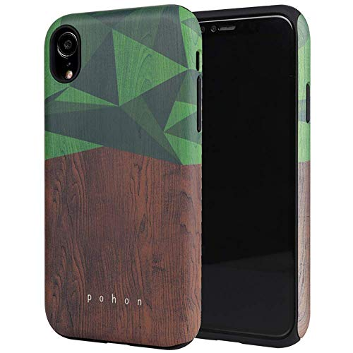iPhone XR Case, SKINU Wood Pattern [Shockproof 2 in 1 Hybrid] Rugged [Heavy Duty Combo] [Dual Layer] High Impact Durable Back Case Cover for iPhone XR (2018) - Wood