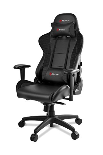 41gn2M rQeL - Arozzi-Verona-Pro-V2-Premium-Racing-Style-Gaming-Chair-with-High-Backrest-Recliner-Swivel-Tilt-Rocker-and-Seat-Height-Adjustment-Lumbar-and-Headrest-Pillows-Included-Carbon-Black