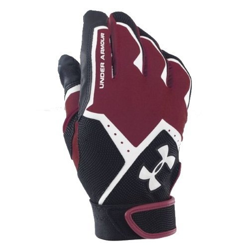 Under Armour Clean-Up VI Batting Gloves Youth Maroon/White 1267427-609-L
