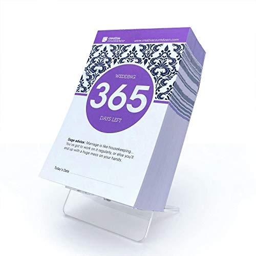 Year Wedding Countdown Checklist: 365-day Countdown To Wedding Tear Off Calendar; 1 Year