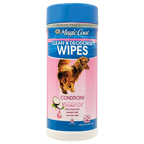 Four Paws 50 Count Magic Coat Essential Oil Dog Wipes with Coconut ()