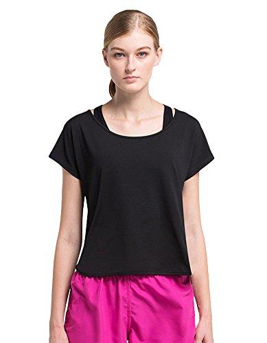 Insun - Camisa deportiva - para mujer Black 26