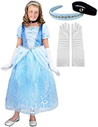 Deluxe Cinderella Princess Costume Set. Includes all accessories.