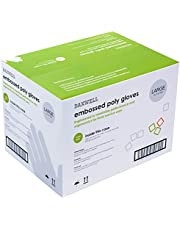 Daxwell Embossed Poly Gloves, Large (10 Boxes of 500 Gloves)