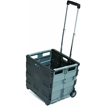 Amazon Com Easy Crate Rolling Foldable Plastic Crate With