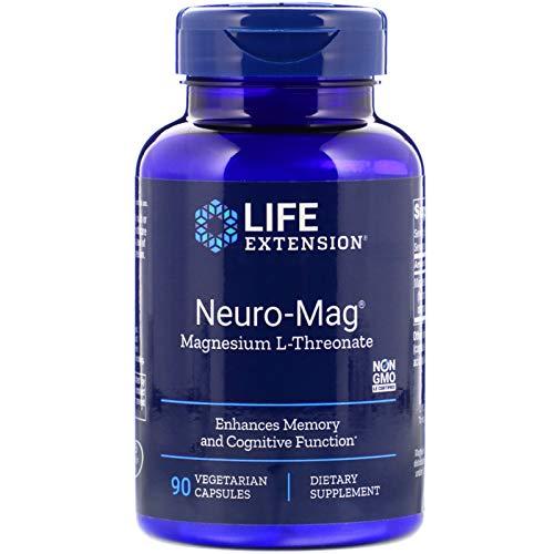 Life Extension Neuro-Mag Magnesium L-Threonate, 90 Vegetarian Capsules Ultra-Absorbable Magnesium – Memory, Focus…