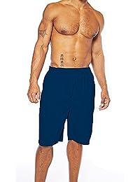 Champion Men's Big and Tall Elastic Waist Solid Swim Trunk