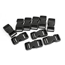 "10 Pcs 1"" Packbag Black Plastic Side Quick Release Buckle Replacement"