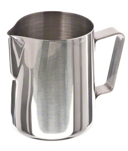 Update International EP-20 Stainless Steel Frothing Pitcher, 20-Ounce, Set of 12