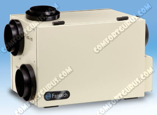 Fantech SHR 1505R Heat Recovery Ventilator, HRV 50, 142 Cfm at 0.4