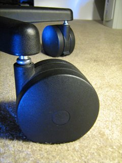 Miracle Caster! Extra Large Chair Wheels. 4' Set of Five. Great for carpet. Replaces chair mat.