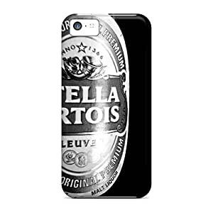 Marycase88 Iphone 5c Shock Absorption Cell-phone Hard Cover Allow Personal Design Colorful Stella Artois Image [GFx6634Eiix]