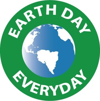 NMC HH104 2'' x 2'' PS Vinyl Hard Hat Emblem w/Legend: ''Earth Day Every Day'', 12 Packs of 25 pcs