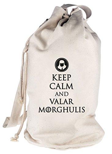 Keep Calm And Valar Morghulis, bedruckter Seesack Umhängetasche Schultertasche Beutel Bag Natur