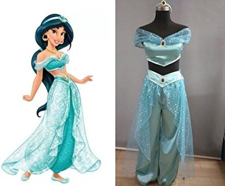 【HALLE】コスプレ衣装 コスチューム アラジンと魔法のランプ 風 ジャスミン 風 (女性Lサイズ)