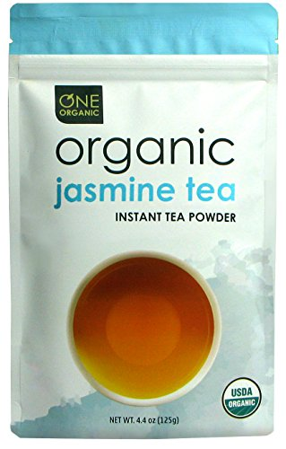 ONE ORGANIC Instant Tea Powder (Jasmine) - 4.4 oz. - 125 Servings - USDA Certified Organic - 100% Pure Tea - Instant Hot or Iced Tea - Unsweetened - No Fillers or Preservatives