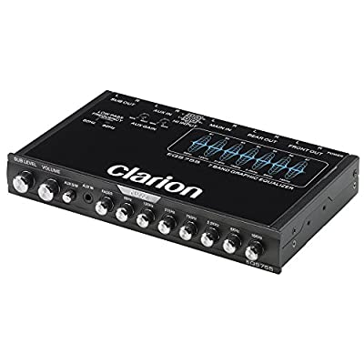 Clarion EQS755 7-Band Car Audio Graphic Equalizer with Front 3.5mm Auxiliary Input, Rear RCA Auxiliary Input and High Level Speaker Inputs: Car Electronics