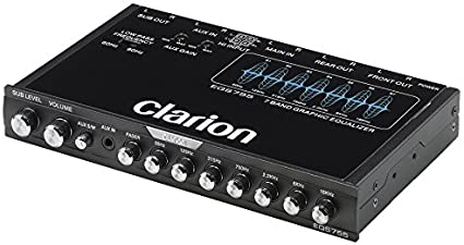 Amazon.com: Clarion EQS755 7-Band Car Audio Graphic Equalizer with Front  3.5mm Auxiliary Input, Rear RCA Auxiliary Input and High Level Speaker  Inputs: Car Electronics