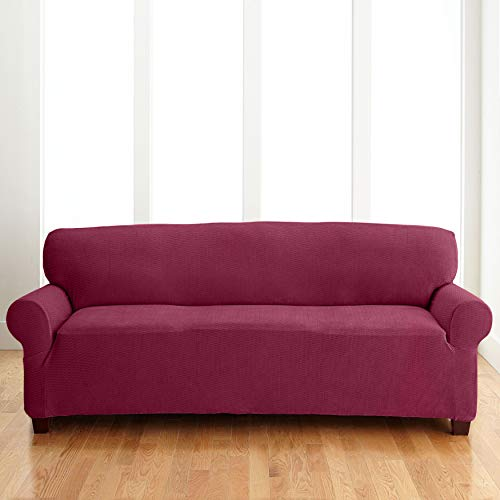 BrylaneHome Bh Studio Brighton Extra-Long Sofa Slipcover - Burgundy