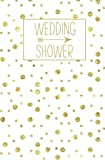 Wedding Shower: Journal, White Gold Blank Wedding Planning Notebook, 110 Lined Pages, 5.25 x 8, Stylish Journal for Bride, Ideal for Notes & Ideas for ... Shower, Bride to Be, Bridal Party Gifts