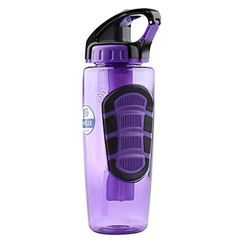 Purple Flip Top Drink Tumbler with Freeze Stick, 32 oz