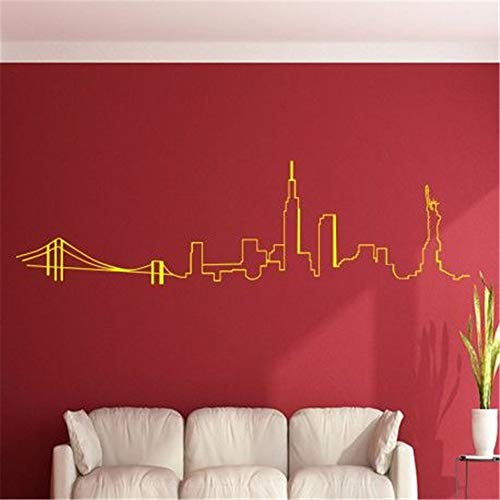 Quotes Vinyl Wall Art Decals Saying Words Removable Lettering French New York City Bridge et City Pour le Salon New York City Bridge and City for Living -