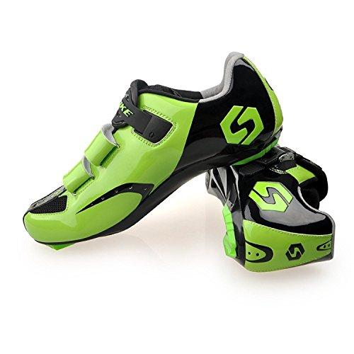 見捨てられた弁護士実現可能KUKOME ビンディングシューズ 自転車 ロード シューズ サイクリング シューズ (お得セット)全6カラー メンズ用& レディーズ 用