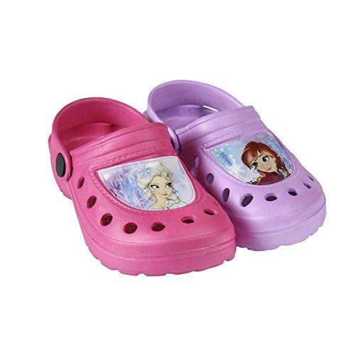 Disney Frozen Beach Mules Crocs Pink