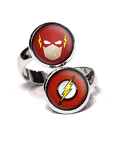 DC+Comics Products : Flash Ring, Justice League Jewelry, Flash Earrings Necklace Set, DC Comics Jewelry, Birthday Gift Set