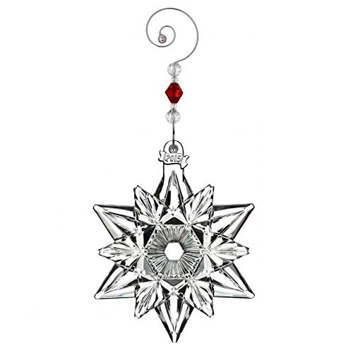 Ornament Annual Crystal Waterford (2015 Waterford Annual Snow Crystal Pierced Snowflake Christmas Ornament)