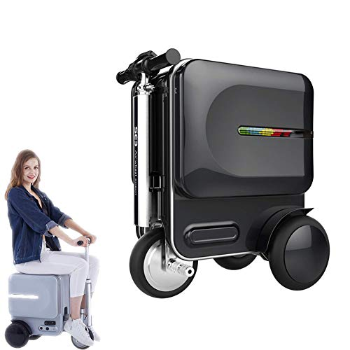 Smart Riding Scooter Suitcase, with LED Color Lights Bluetooth Speakers Hidden Telescopic Rod External USB Charging Port…