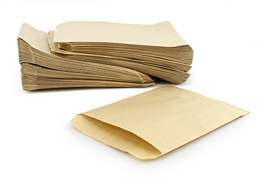 Brown Natural Kraft Paper Bakery Bags (250-Pack), 7.5 x 5 Inch Bags for Food, Merchandise & (Halloween Candy Food Stamps)