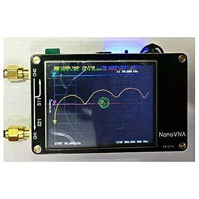 for Nanovna Vector Network Analyzer HF VHF UHF UV VNA Antenna Analyzer 50Khz-900Mhz+2.8''LCD + Battery, Measuring S-Parameter Voltage Standing Wave Ratio, Phase, delay, Smith Chart