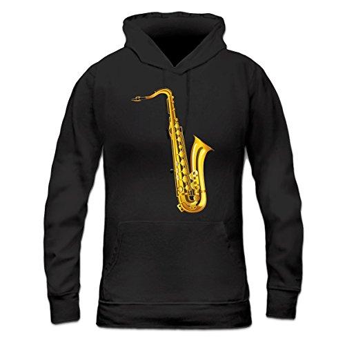 Sudadera con capucha de mujer Saxophone by Shirtcity Negro
