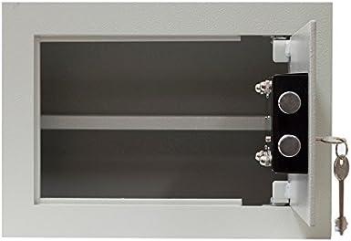 Kamatec-Caja fuerte para empotrar, apertura por llave capacidad de 9 L, 30 x 20 x 15 cm: Amazon.es: Iluminación