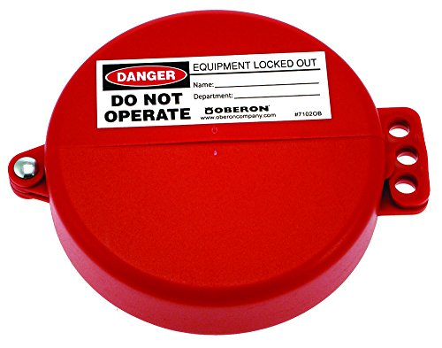 Oberon LOTO-GVL-LG-12 Gate Value Lockout, Large, Red (Pack of 12) by Oberon Company