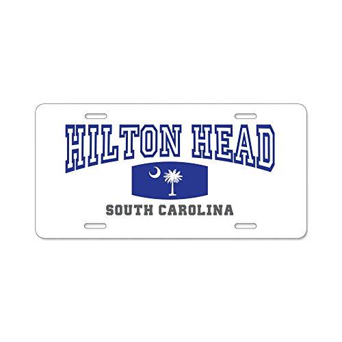 - CafePress - Hilton Head Island South Carolina, Palmetto State - Aluminum License Plate, Front License Plate, Vanity Tag