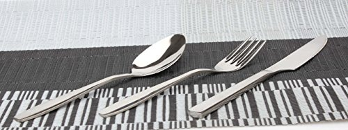 Silver Flatware Set, ByYouLike Silverware Set 18/10 Stainless Steel Kitchenware Tableware Dinnerware Anti-Rust Utensil Set ,Silver Cutlery Set of 3-Piece (Steak Knife, Spoon, Fork)  (Style B)
