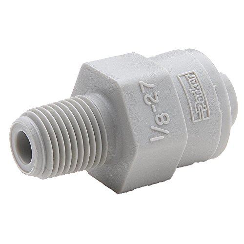 Parker A6MC2-MG-pk10 Push-to-Connect All Plastic FDA Compliant Fitting, True Seal, Tube to Pipe, Push-to-Connect and Male Pipe Connector, Acetal, 3/8