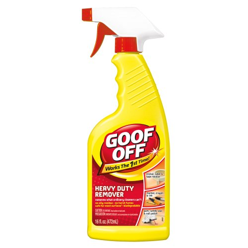Biodegradable Pen Grip - Goof Off FG720 Heavy Duty Spot Remover and Degreaser, Trigger Spray 16-Ounce