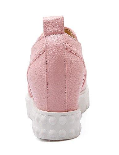 cn35 Mocasines Vestido de pink uk3 Plataforma us8 Redonda eu36 5 Negro mujer ZQ uk6 pink pink eu39 us5 Rosa cn39 Zapatos Beige Blanco us8 eu39 5 uk6 cn39 Punta Semicuero wxqCgYW05