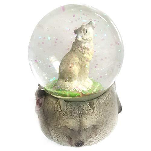 Ravensden Wolf Snow Globe - Collectable Gift Idea (Wolf Water Globe)