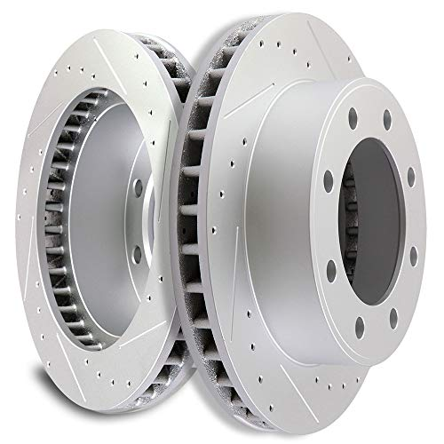 SCITOO Front 331 mm Discs Brake Rotors Brake Kit fit 2000 2001 2002 2003 2004 2005 Ford Excursion 1999 2000 2001 2002 2003 2004 Ford F-250 F-350 Super Duty