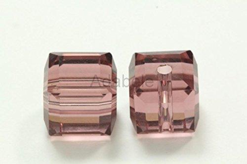 24 8mm Adabele Austrian Cube Crystal Beads Amethyst Alternative For Swarovski Preciosa Crystalized 5601 #SSC811