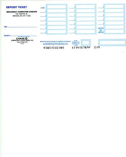 Laser Deposit Slips Compatible with QuickBooks 1 or 2 Parts (500, 1 Part - White ()