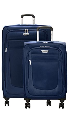 Ricardo Eureka Deluxe Superlight 2 Piece Luggage Spinner Set: 30'' and 21'' (Royal Blue) by Ricardo Beverly Hills