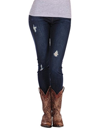 (Stretch Denim Style Legging Stetson Ladies Collection- Denim (l) 11-103-0202-0600BU)