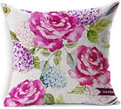 DarrenOw02 Fundas de cojín de algodón de 45 x 45 cm, diseño ...