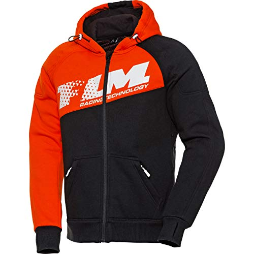 FLM Hoodie Sweatshirt Sweatjacke Kapuzenpullover Hoodie mit Protektoren, Motorrad-Hoodie, Schulter-, Ellbogenprotektoren…