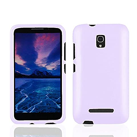 Hard Snap On Case Cover For Alcatel One Touch Pop Mega LTE A995L A995G With LCD Screen Protector (Alcatel A995g Lte Phone Cover)